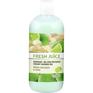 Fresh Juice Kremowy żel pod prysznic White chocolate & Lime
