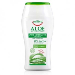 Equilibra Aloe Gentle Cleansing Milk łagodne mleczko do demakijażu Aloe Vera 200ml