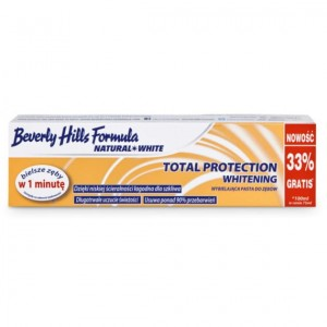 Beverly Hills Formula, Natural White, Total Protection Whitening, Pasta do zębów, 100 ml