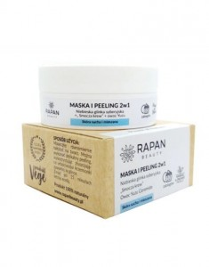Rapan Beauty Maska i peeling 2w1 niebieska glinka + smocza krew POWER OF NATURE
