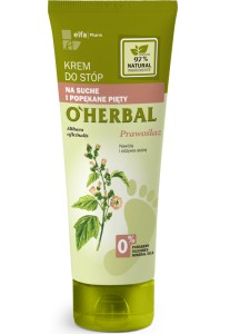O'Herbal Krem do stóp na suche i popękane pięty prawoślaz 75ml